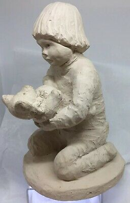 "VTG Austin Productions Sculpture ""To Beddy With Teddy"", 1982 Bright Eyes, COA 9"""