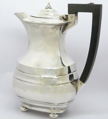 Elegant Large Antique Solid Sterling Silver Coffee Pot Hm 1922 S Blanckensee