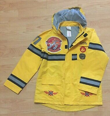 Disney Planes Dusty Hooded Puffer Jacket New Size Med 7-8 Fire and Rescue Dept