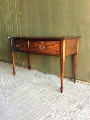 Antique late Victorian C.1900 flame Mahogany console / hall table