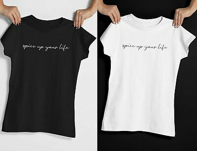 Spice Up Your Life T-Shirt Printed Slogan TShirt Top Girls World TOUR Women