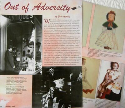 6p History Article - Antique WPA Paintings of Great Depression & Civil War Dolls