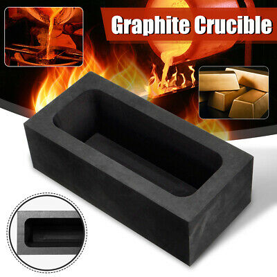 85oz Large Graphite Ingot Mold Melting Casting Refining Scrap Bar Crucible UK