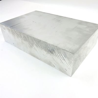 "2.5/"" thick 6061 Aluminum PLATE  4.4375/"" x 7.9375/"" Long Solid  Stock sku 122259"