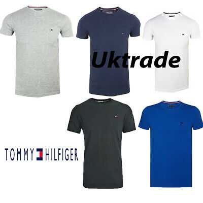Tommy Hilfiger Mens Crew Neck Short Sleeve 100% Cotton t Shirt  Slim Fit