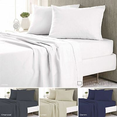 Micro Flannel Flannelette Sheet Set - 40cm Deep Wall