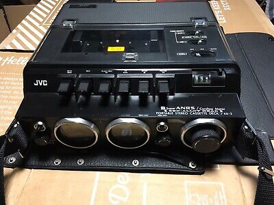 JVC KD-2E Portable Stereo Cassette Deck With Mains Cable and JVC Carry Case