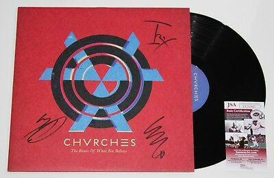 SIGNED//AUTOGRAPHED CHVRCHES-THE BONES OF WHAT YOU BELIEVE  FRAMED PRESENTATION.