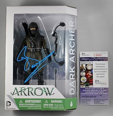 "John Barrowman Signed Dark Archer 6"" Figure Arrow Dc Collectibles Autograph +Jsa"