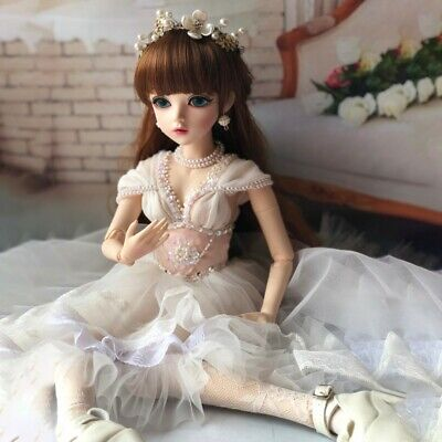 60cm 1/3 BJD Doll Handmade Baby Girl Xmas Gift Free Clothes Shoes Wig Makeup Toy