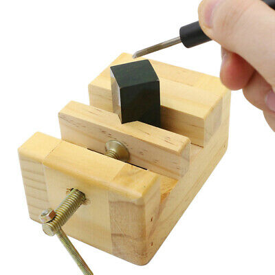 Wooden Mini Flat Pliers Vise Clamp Table Diy Bench Vice