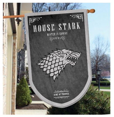 """Game of Thrones Tournament Banner Flag Hanging House Stark 37.5""""x 23.6"""""""