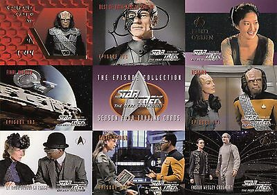 1996 Star Trek TNG The Next Generation Season Four:  9 card Prototype panel P1