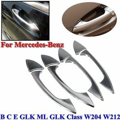 Door Handle Cover Trim Chrome For Mercedes-Benz E GLK ML CLA C-Class W204 W212OX