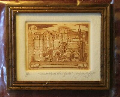 John Anthony Miller Etching Colleen Moore's Fairy Castle Artisan Dollhouse Mini