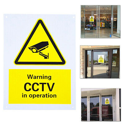 CCTV In Operation - Surveillance Sign 150 x 200mm Plastic PreDrilled Rigid Board