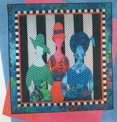 Quilting Diva - fun applique & pieced wall quilt PATTERN - BJ Designs