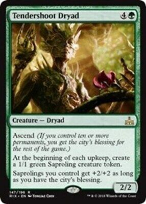 1x NM-Mint, English Regular Tendershoot Dryad Rivals of Ixalan