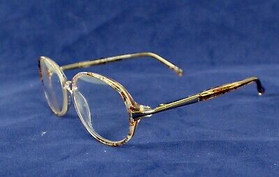 335088891bf1 Marchon Blue Ribbon BR25 Clear Brown Mosaic Oval Rx Glasses Frames 53 x 15  130
