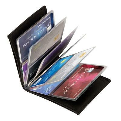 2-PACK: Wonder Wallet Amazing Slim RFID Wallets As Seen onTV Black Leather