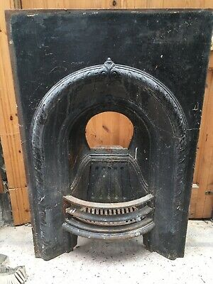Small Cast Iron Architectural Salvage Victorian Fireplace Decorative Antique