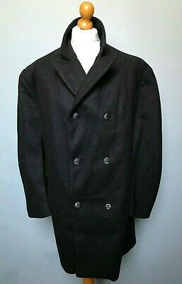 Vintage grey double breasted GPO Post office peacoat overcoat size 50 52