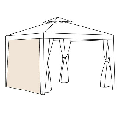 CURTAINS ONLY for Patio Gazebo Universal Fit 1.9m x 2.6m Door Window Side Panels