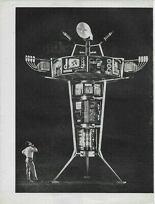 1969 General Telephone Satellite of the Future 2-Page Original Vintage Print  Ad