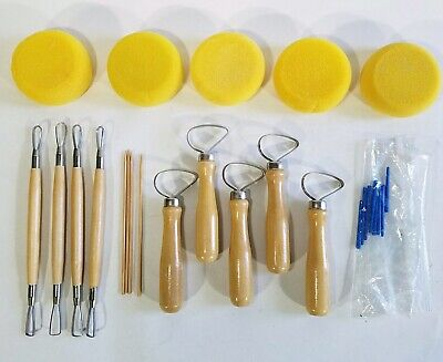 Pottery Tool Kit 14 Pc Clay Sculpting Carving Ceramics Molding Shapers Tools