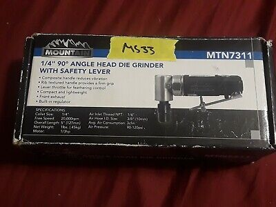 Angle Die Grinder,1/4in,90 Deg Exhaust MOUNTAIN 7311 (MS33)