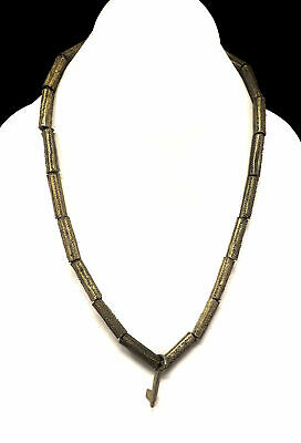 Yoruba Gilded Brass Beads Necklace Africa SALE WAS $45.00