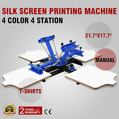 4 Color 4 Station Silk Screen Printing Machine Printing Wood Pressing