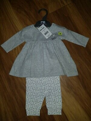 Mothercare 2 Part Set Up To 1 Month dress set Up to 10 lbs/4.5kg grey