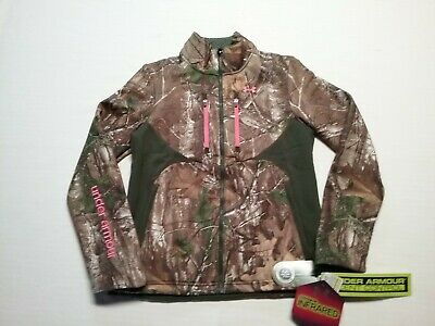 dd7cb4b7d8d34 UNDER ARMOUR Womens Soft Shell Jacket Camo Speed Freek Scent Control Sz-S  NWT