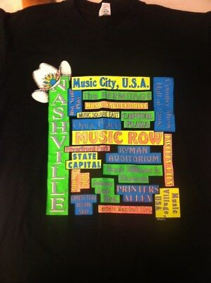 True Vintage Nashville TN Large T shirt Music City USA Country Music Johnny Cash