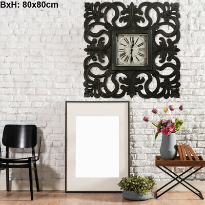 Vintage Wall Clock Roman Face Living Room Decoration Time Display MDF