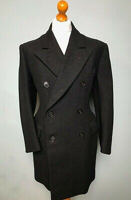 Vintage double breasted 1940's 1950's grey short overcoat size 42