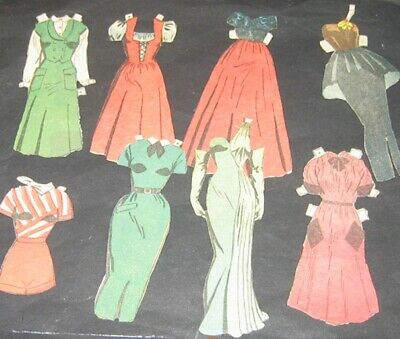 Jane Arden Newspaper Paper Dolls Outfits 1952