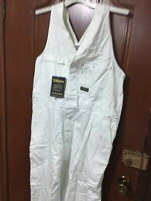 (pack of 2) Bisley Work Overalls White Painter Size 97s RRP$45 Each