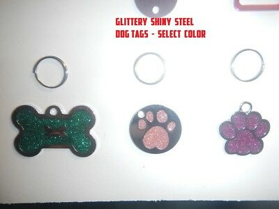 Personalized Custom Engraved DOG ID TAG, PET NAME TAGS, CAT, DOG TAG, CHARMS ID
