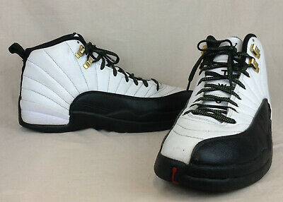 31d32a49e95 Nike Air Jordan XII 12 Retro Taxi Size 10 US Men's White/Black 130690-