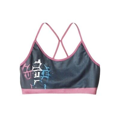 NEW Girls Seamless Sports Bra Nickelodeon Size L 10/12 Black Pink TMNT Racerback