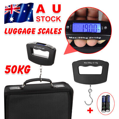 Electronic Digital Portable Travel Luggage Scale Handheld Weighing LCD 50KG AU