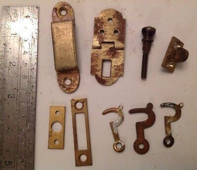 Antique And Vintage Brass Catches Escutcheons Fittings