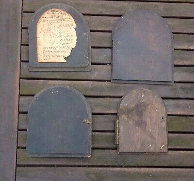 Antique Mantel Clock Doors, Clockmakers Spareparts, Hardwood