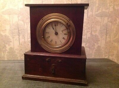 Antique Early Mechanical Time Recorder Clock (working)With Electrics To Restore