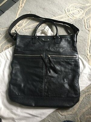 9d203d07ce Balenciaga Men Bag Unisex Motorcycle Tote Design Classic Hardly Used dark  grey