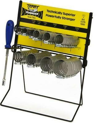 TERRY 'Powergrip' Hose Clips Dispenser with 100 Clips and Hose Clip Driver