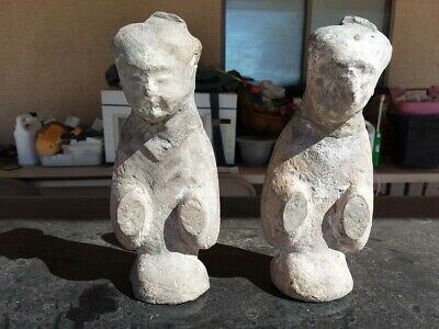 Antique Han Dynasty Chinese Clay Tomb Burial Figures