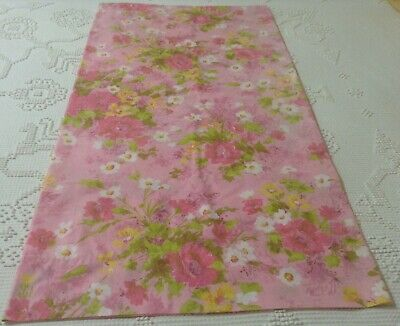 Vintage Fieldcrest Perfection 1 King Pillowcase Pink Yellow Flower Power  USA